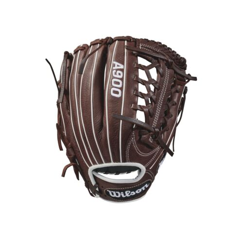 "Wilson A900 gant de base-ball série Marron foncé//blanc main droite Throw 11.75/"""