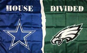 Philadelphia Eagles VS Dallas Cowboys Flag Divided 3x5ft