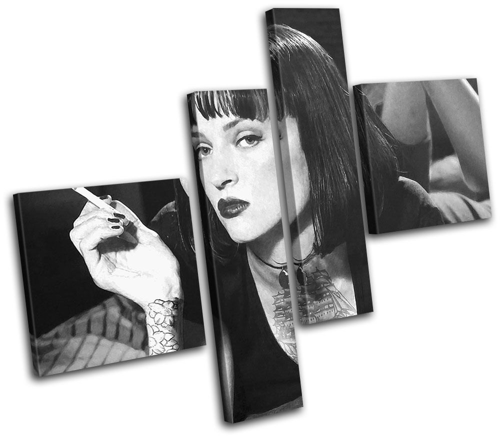 Pulp Fiction Tattoo  Iconic Celebrities CANVAS WALL ART Picture Print VA
