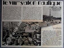 Document Photo 8e salon nautique Cours la Reine ARONIA  1933