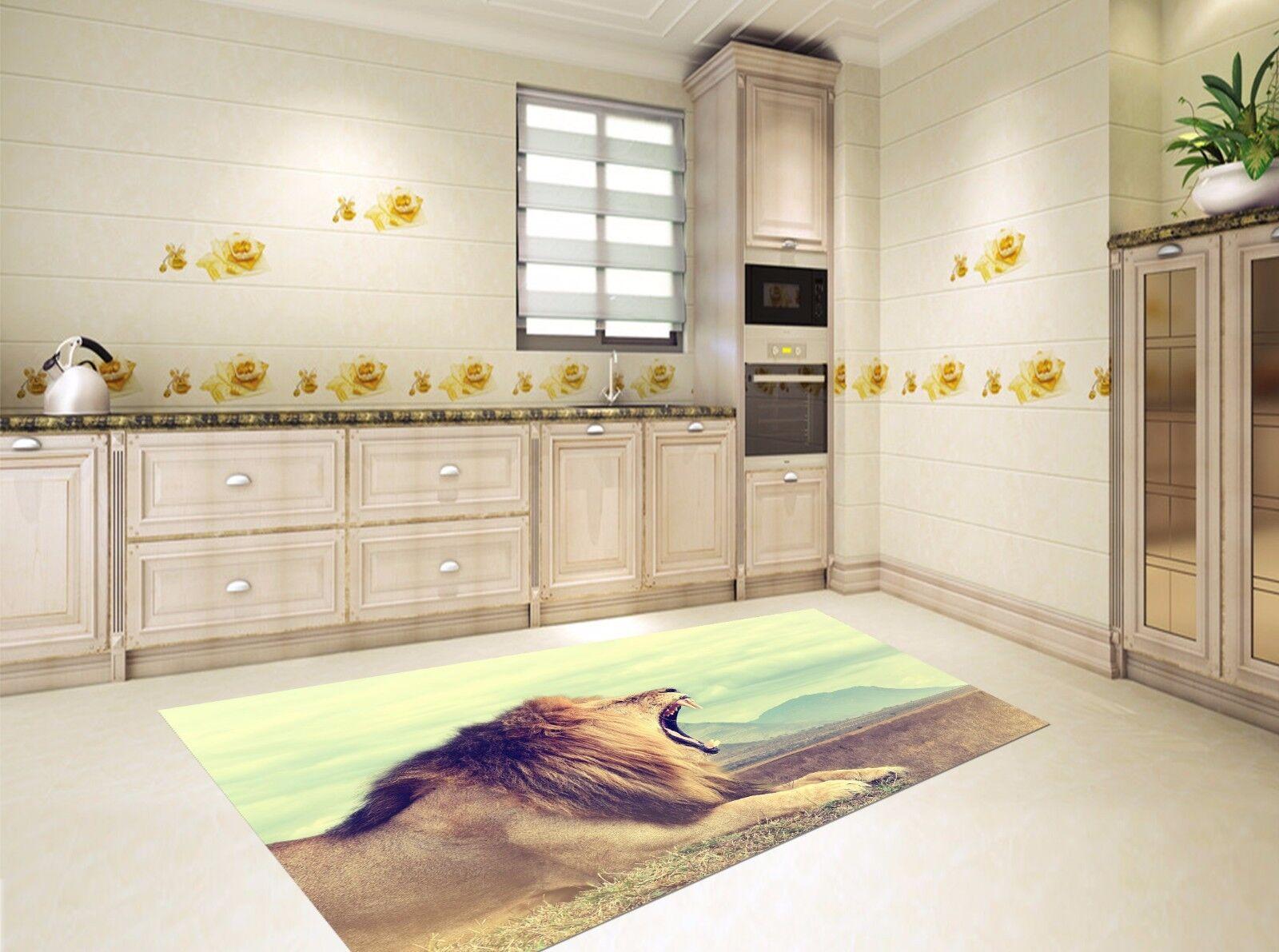 3D Sky Lion 62 Kitchen Mat Floor Murals Wall Print Wall AJ WALLPAPER UK Kyra