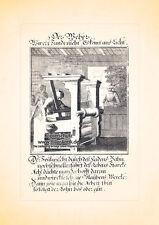 Der Weber Webstuhl weben Tuchmacher Kupferstich Christoph Weigel Berufe 193