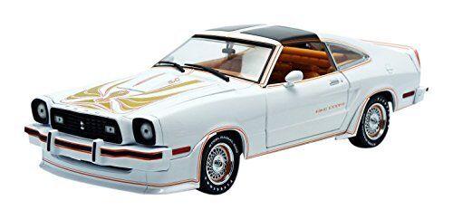 1978 mustang ii cobra ii in weiß mit Goldenen streifen 1,18 Grünlight 12939