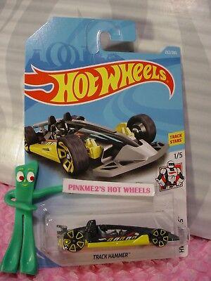 TRACK HAMMER #232✰black; yellow TRAP5✰ ✰HW ROBOTS✰2018 i Hot Wheels WW Case K//L