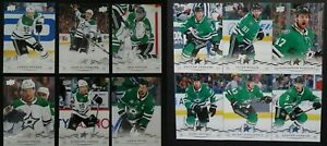 2018-19-Upper-Deck-UD-Dallas-Stars-Series-1-amp-2-Team-Set-of-12-Hockey-Cards