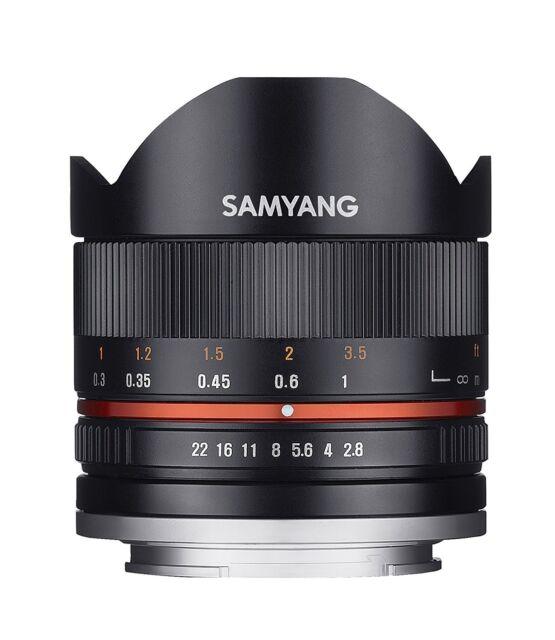 Samyang 8mm F2.8 II Fish-Eye Mise au Point Manuelle Lentille pour Sony-E