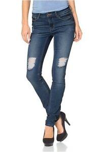 Arizona-Slim-Fit-Destroyed-Jeans-Gr-36-L32-NEU-Damen-Stretch-Denim-Blue-Hose