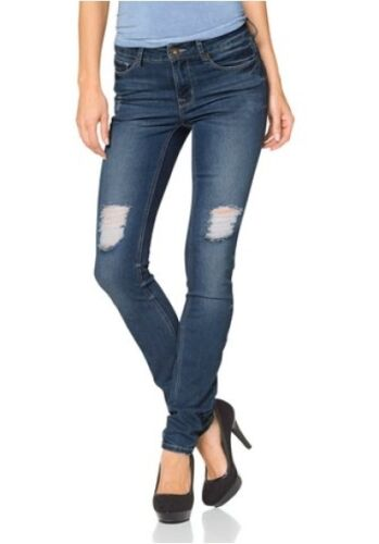 Look Slim Neuf Femmes Arizona Fit Bleu Destroyed Denim Pantalon Jeans Stretch UBEnqwqZdg