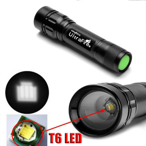 Tactical Zoomable 20000LM 3-Modes  T6 LED 18650 Police Flashlight Torch Lamp