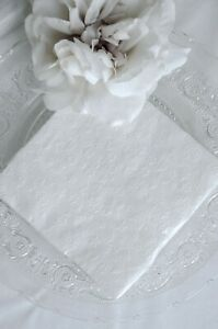 Traumhaft schöner Serviettenring 2er Set  Vintage Perlen Simili Chic Antique NEU