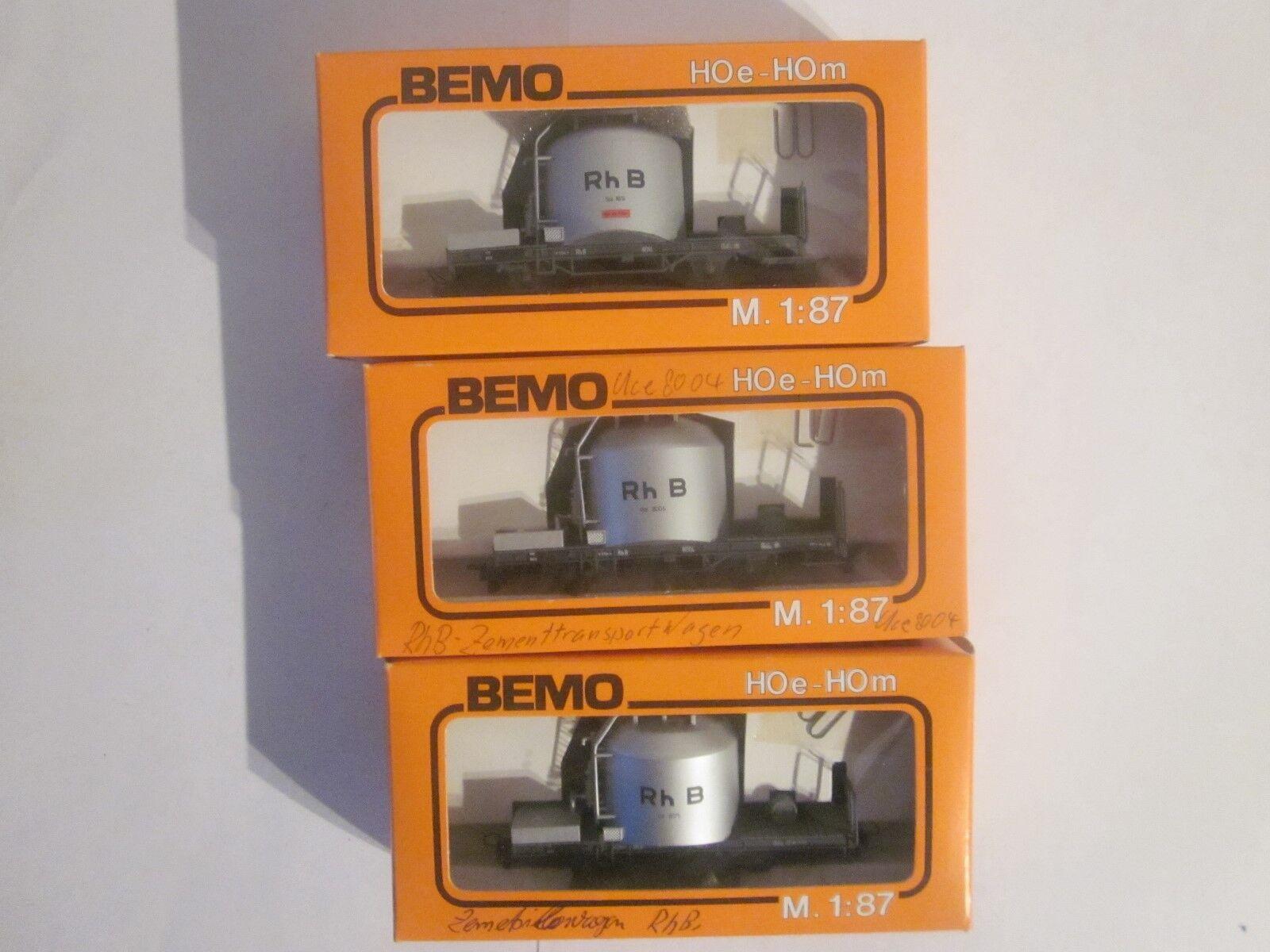 Bemo Hoe 3 X de la zementtransportwagen RHB art.nr 2 x 2052 2059 OVP