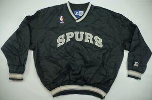39e41870a Details about Rare Vintage STARTER San Antonio Spurs Pullover Golf Jacket  90s NBA Authentic XL