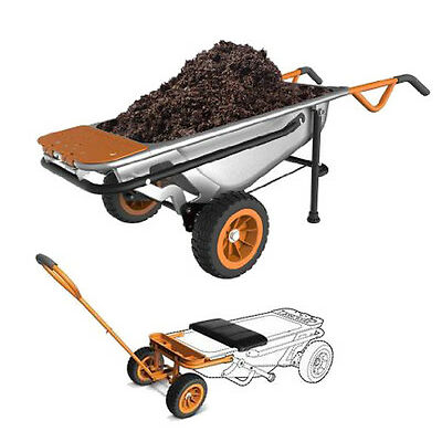 WORX WG050 Aerocart 8-in-1 Wheelbarrow/Garden Cart/Dolly + Wagon Kit WA0028