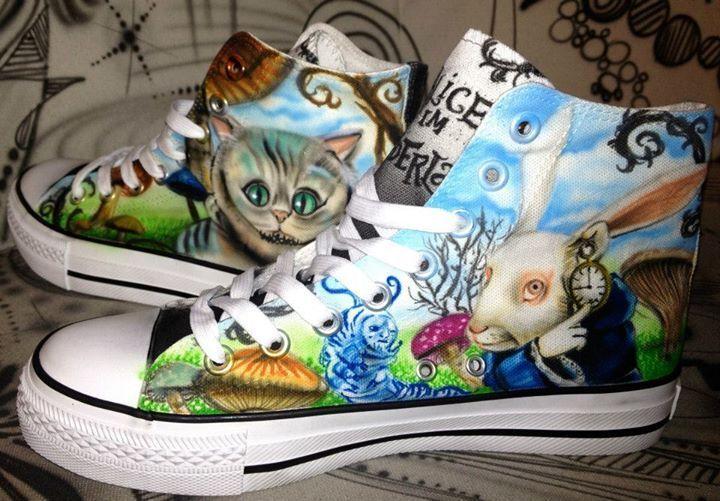 AEROGRAFO Converse Chucks Allstars CUSTOM Graffiti Style Fashion Fashion Fashion Sneaker painted 4d5934