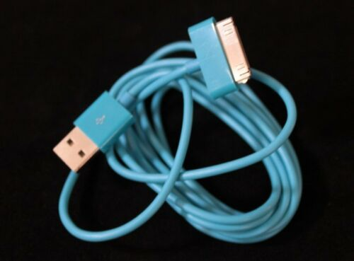 2 X 6FT Long Blue USB Data Sync Cable Charge Cord For iPhone 3GS 4 4S iPad 1 2