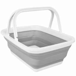 Foldable-Collapsible-Basket-Shopping-Laundry-Washing-Space-Saving-With-Handles