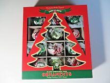 New Christopher Radko Shiny Brite Flocked Christmas Ornaments Vint.1940's Design