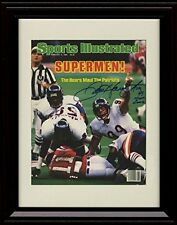 Framed Chicago Bears Sports Illustrated Autograph Replica Print 1985 Super Bowl