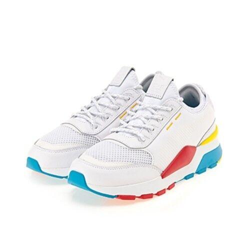 Nuevos Zapatos Deportivos Zapatos PUMA RS-0 Play-blancoo Hawaiana Océano Diente de León (367515-01)