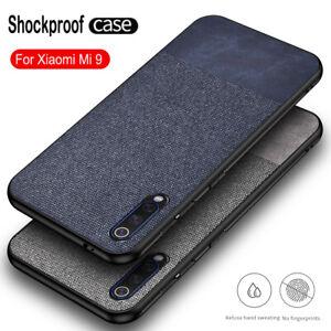 For Xiaomi Mi A3 A2 Lite Slim Fabric Hybrid Soft TPU Leather Case Matte Cover