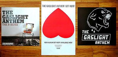 THE GASLIGHT ANTHEM Get Hurt | B-Sides Ltd Ed Posters Lot +FREE 3rd Punk Poster!