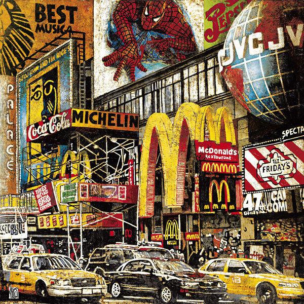 Fabienne Arietti   Meilleure Musica Tableau Prêt 70x70 Mural Art New York Villes