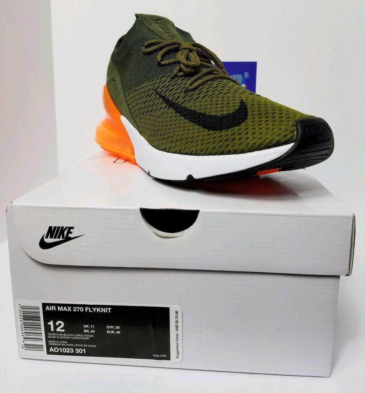 buy popular 75271 e09f5 Nike air max 270 uomini verde flyknit ao1023-301 taglia 12 verde uomini  arancione f5b8dc ...