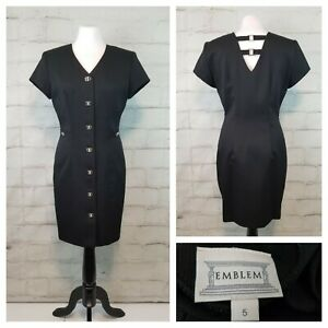 Shoulder pads 1990s style Vintage Dress 1990s Dress 1990 Halloween Printed Dress beige and black