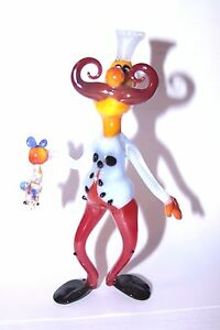 "6 Inch. Murano Style Blown Glass Figurines ""Happy Cook"" (6)"