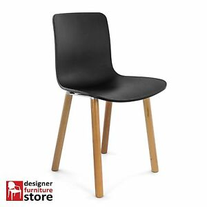 Replica-Jasper-Morrison-Hal-Dining-Chair-Black-Seat-Beech-Wood-Legs