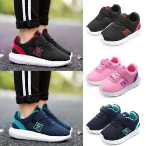 Kids-Boys-Girls-Mesh-Breathable-Shoes-Running-Trainers-Sports-Casual-Sneakers-SP