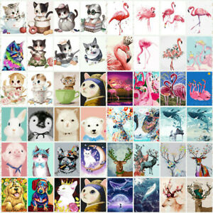 Animal-DIY-Paint-By-Number-Kit-Digital-Acrylic-Oil-Painting-Home-Decor-40-50cm