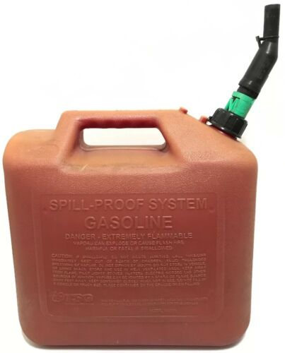Briggs & Stratton 5 Gallon Gas Fuel Can Behälter Ölfleck Sicher Langlebig Düse