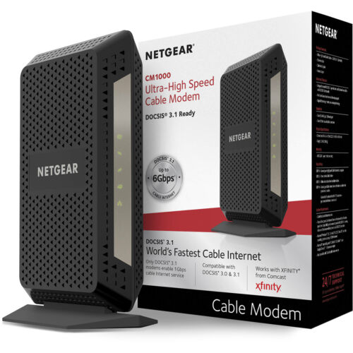 Netgear CM1000 DOCSIS 3.1 Xfinity Compatible Ultra-High Speed Cable Modem