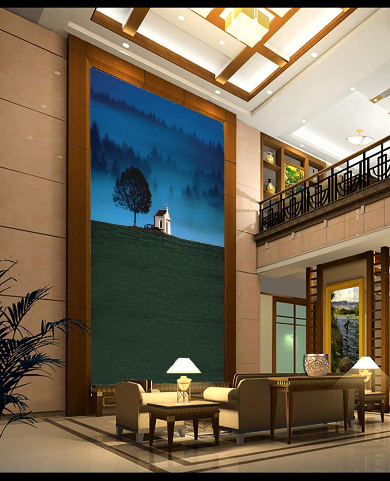 3D Neblige Nacht Wald 8 Tapete Wandgemälde Tapete Tapeten Bild Familie DE Summer  | Online-verkauf  | Hohe Qualität Und Geringen Overhead  | Clever und praktisch