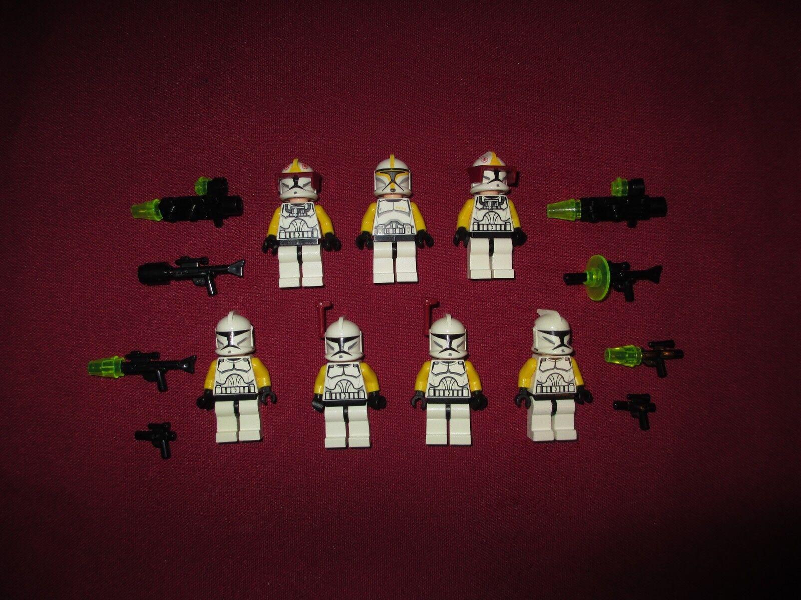 LEGO Star Wars minifigures LOT jaune LEUT,Squad,Clone Pilots,Arc Trooper Lot   différentes tailles