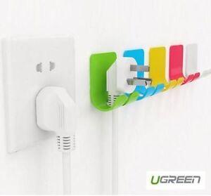 Ugreen Power Cord Holder Hanger With 3m Sticker 2 Pack