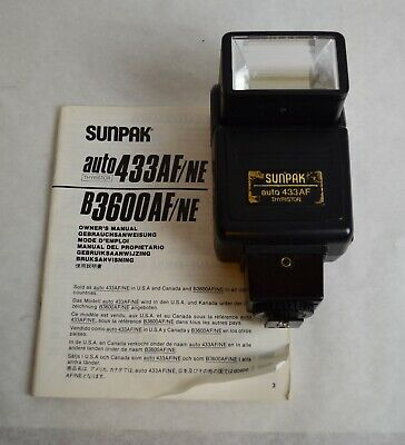 Sunpak Auto 433AF Thyristor Flash for Minolta