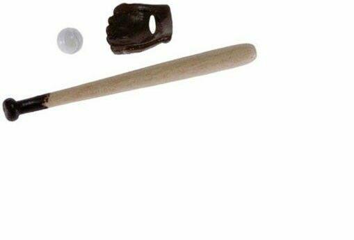 Dollhouse Miniatures 1:12 Scale Baseball Bat /& Ball 2pc #IM65093