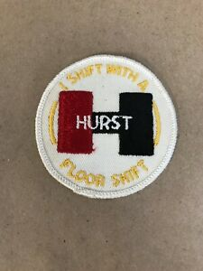 Vtg-Hurst-Floor-Shifter-Embroidered-Sew-On-Patch-3-Auto-Racing-Badge-Hot-Rod