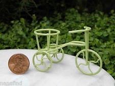 Miniature Dollhouse FAIRY GARDEN Furniture ~ Micro Mini Lime Green Bicycle