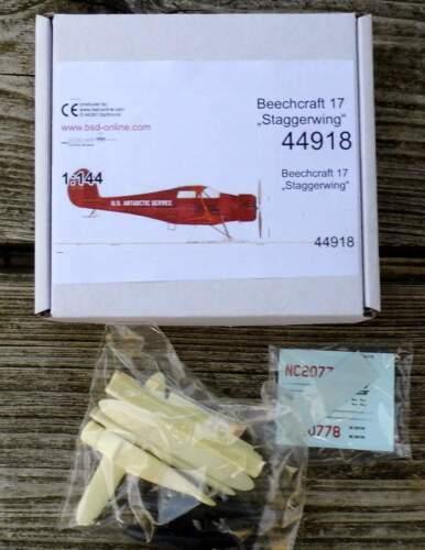 Beechcraft 17 Staggerwing Flugzeug von bs-design 1:144