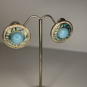 Lauren G Adams Earrings Pierced Blue Goldtone