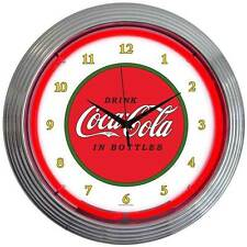 New 1910 style Drink Coca Cola In Bottles neon clock  Old style Coke boxes avail