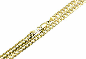 """14k Solid Yellow Gold Flat Curb Italian Link Chain Necklace 4.5mm-7mm Sz 18/""""-30/"""""""