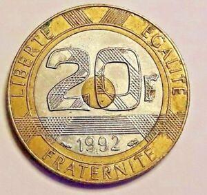 """===>> 20 Francs Mont Saint Michel 1992 Variante """"V""""  ouvert RARE 5 Stries <<===="""