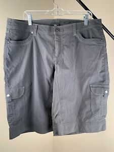 Kuhl-Womens-Splash-11-034-Inseam-Shorts-Size-18-Carbon-Shade-of-Gray-NWOT