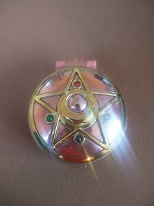 Sailor Moon Original 1993 Broche Étoile de puissance en cristal de Bandai