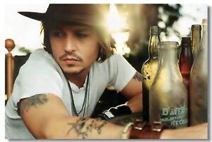Poster Johnny Depp Movie Actor Star Club Wall Art Print 210