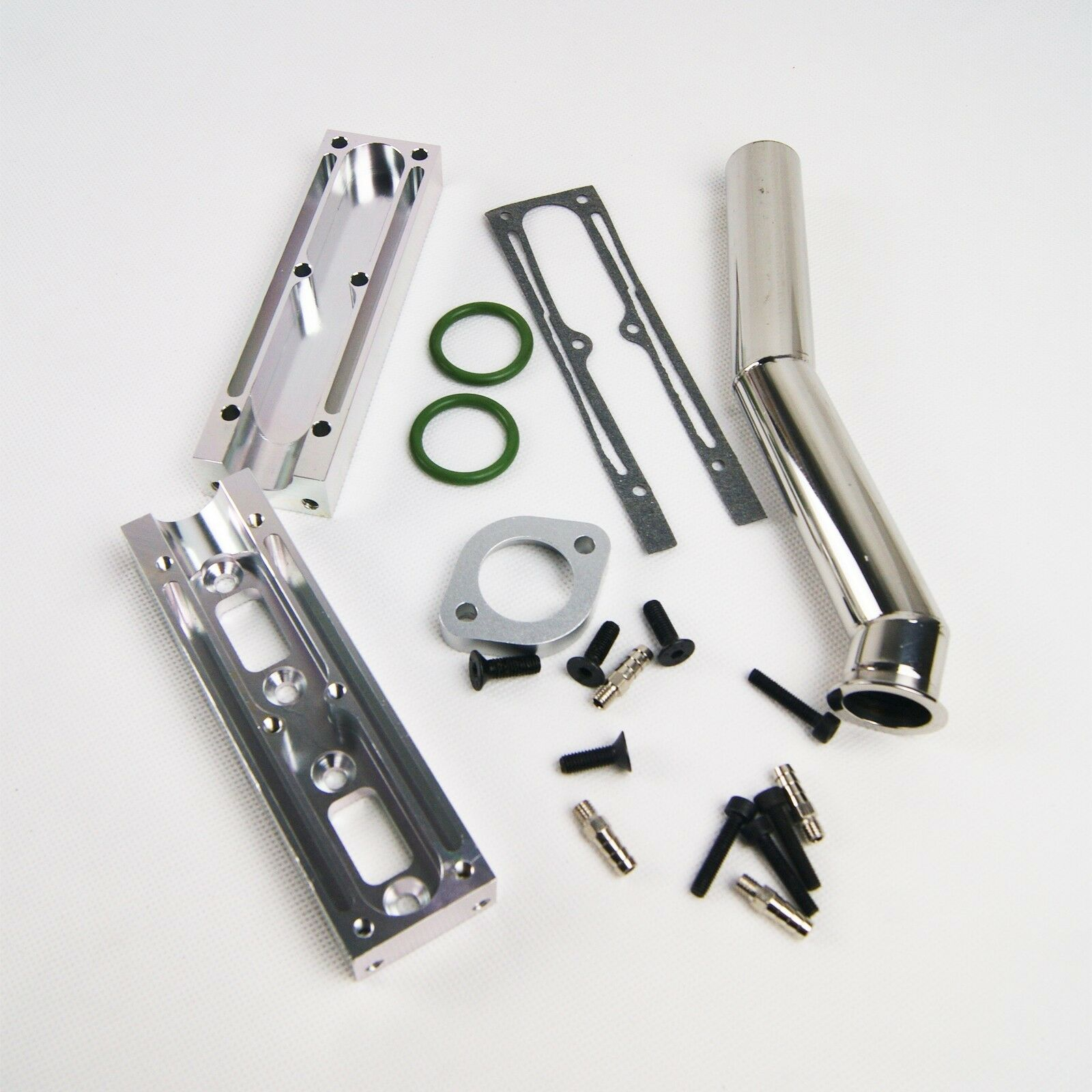 Comple Gas Boat Exhaust Pipe Header fit 52cc Inline Twin  Marine Engine K600S  online economico